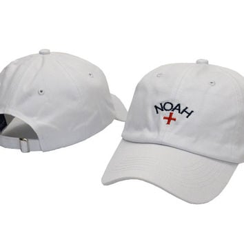 White NOAH Embroidered Baseball Cap Hat