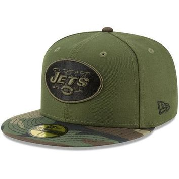 New Era New York Jets Green/Camo Woodland 59FIFTY Fitted Hat - NFL