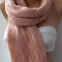 NEW Super Elegant and  soft scarf/shawl  Powder pink Scarf