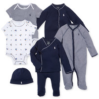 Ralph Lauren Baby Boys' Nestled In Navy Gift Bundle