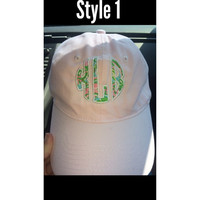 Lilly Pulitzer Circle Hat Monogram