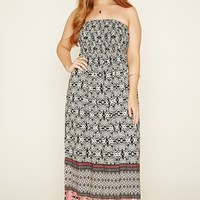 Plus Size Smocked Maxi Dress
