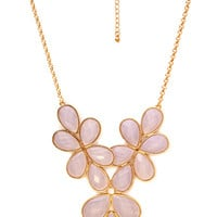 Flirty Floral Bib Necklace