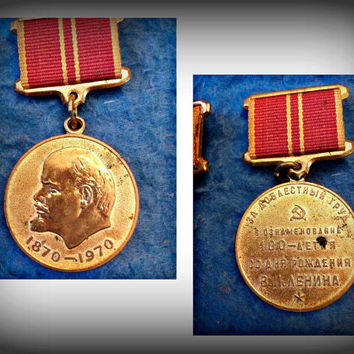 Vintage Medal of the 100th Anniversary of Lenin, Ussr, Soviet Union, Russian