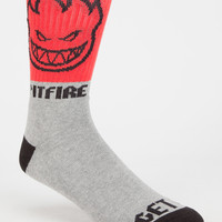 Spitfire Hombre Mens Crew Socks Red Combo One Size For Men 27388834901