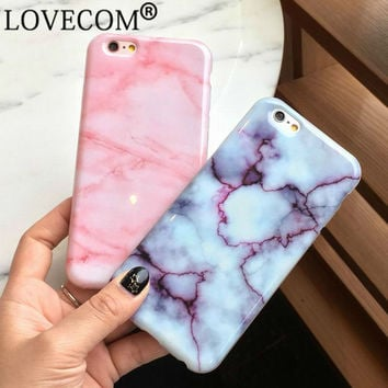 New Hot Wine Red Pink Marble Soft TPU Skin Shell For iPhone 6 6s plus Stylish Cute Unique Phone Cover Cases Girls Coque