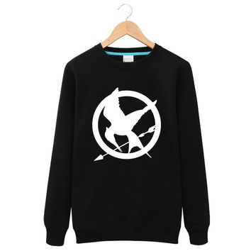 2017 Winter The Hunger Games Fleece Round neck Hoodies Men Long sleeves Fire Phoenix Exercise Movie Clothing Streetwear Tops