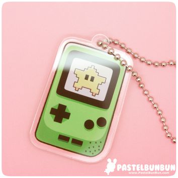 Game Boy Color Acrylic Charm - Keychain, Phone Charm, Necklace from PastelBunBun