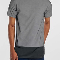 Black/White Mesh Long Line T-Shirt - New This Week - New In