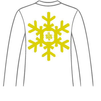 monogrammed Snowflake Long Sleeve Shirt