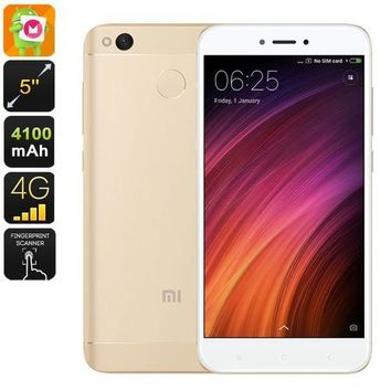 Mobile Phone Xiaomi Redmi 4X (16GB Gold)