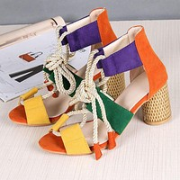 Hot fashion, high heeled sandals, big size ladies shoes 35-43 Orange