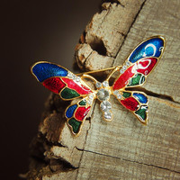 Rainbow Butterfly Brooch #5383