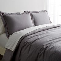 Stitch & Loop Mill Stitch Duvet Set - Grey -