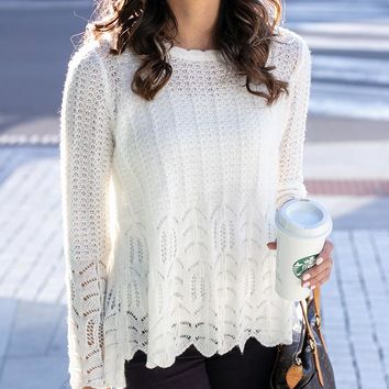 Grace & Lace Snowflake Sweater (Ivory)