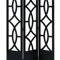 "Room Dividers Wood 3 Panel Screen 72""H, 48""W"