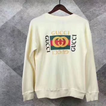 One-nice™ Gucci Tiger Head Fashion Long Sleeve Knit Sweater Top