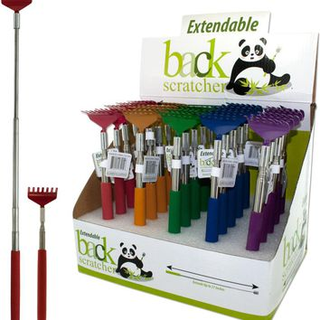 Extendable Back Scratcher Countertop Display - Yel Case Pack 25