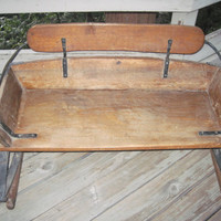 Antique Wagon Buggy Buckboard Seat With Leaf Springs