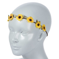 Sunflower Garland Stretch Headwrap