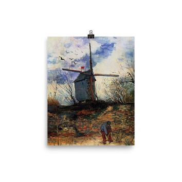 Vincent Van Gogh Art Print Reproduction Windmill Poster