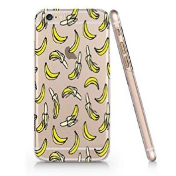 Bananas Pattern Slim Iphone 6 Case, Clear Iphone 6 Case Plastic Hard Case Unique Design-Quindyshop (AMSL93)