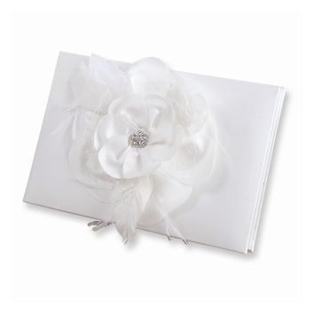 Ivory or White Somerset Guest Book - Perfect Wedding Gift