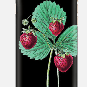 iPhone 6 Case , Botanical Berry iPhone 6 case , Strawberry iPhone case, iPhone 5c case, multi color cell case, cellcasebythatsnancy