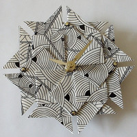 Art Deco Origami Clock-Small/ Stocking Stuffer