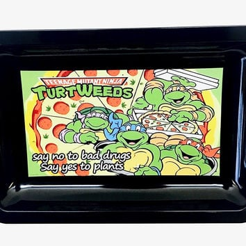Colorful Metal Rolling Tray - Ninja Turtles