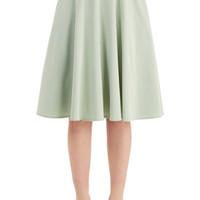50s Long High Waist Just this Sway Skirt in Sage