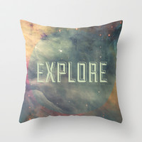 Explore III Throw Pillow by Galaxy Eyes