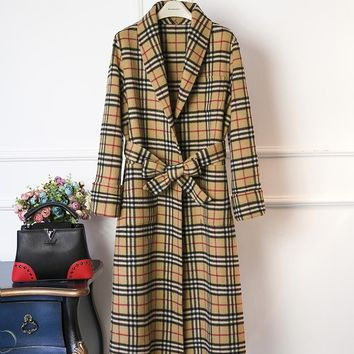 Burberry Women's High-end classic wool coat