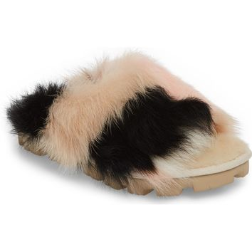 UGG® Shag It Crazy Genuine Toscana Shearling Slide Sandal (Women) | Nordstrom