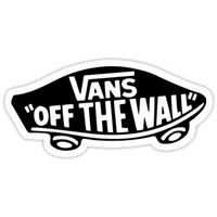 'Vans Black Logo' Sticker by ronyhughes