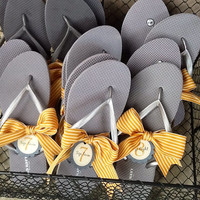 Flip Flop Size Tags for Weddings and More // Personalized + Custom Made
