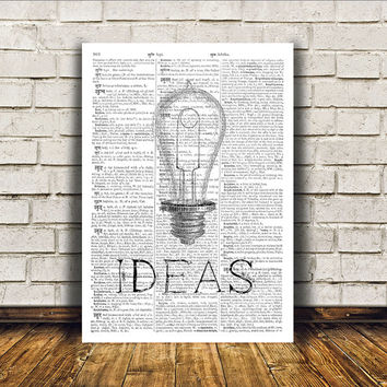 Modern decor Ideas poster Antique art Vintage print RTA46