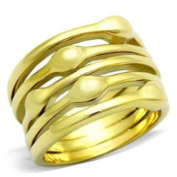 WildKlass Stainless Steel Stackable Ring IP Gold(Ion Plating) Women