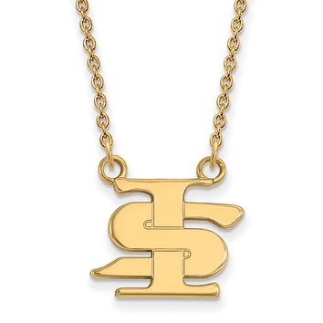 NCAA 14k Yellow Gold Indiana State Small Pendant Necklace