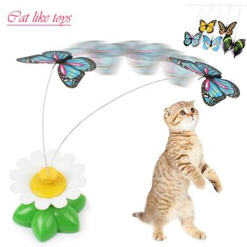 Cat Toys Electric Rotating Colorful Butterfly Funny Pet