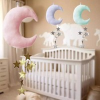 HANGING MOON/CLOUD DECOR