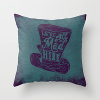 Alice in Wonderland Throw Pillow by Drew Wallace