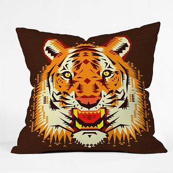 Chobopop Geometric Tiger Throw Pillow