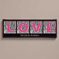 "Walmart: Personalized Zebra Print Canvas, 6"" x 18"""