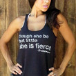 Though she be but little she is FIERCE. Eco-Heather Workout Tank. Size SMALL