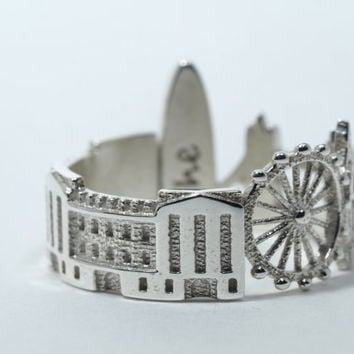 London Cityscape - Skyline Statement Ring Size 5-13