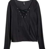 H&M Top with Lacing $14.99