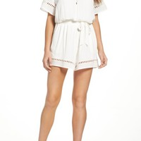 Fraiche by J Lace Inset Romper | Nordstrom
