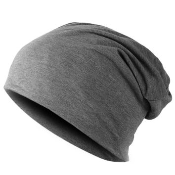 Spring Fashion Men Knitted Winter Cap Casual Beanies for Men Solid Color Hip-hop Slouch Skullies Bonnet Unisex Cap Hat Gorro Dark Grey