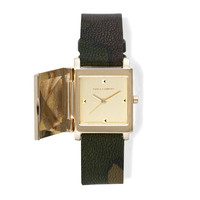 COVERED CAMOUFLAGE WATCH